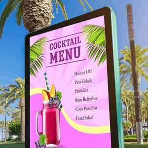 Summer digital signage