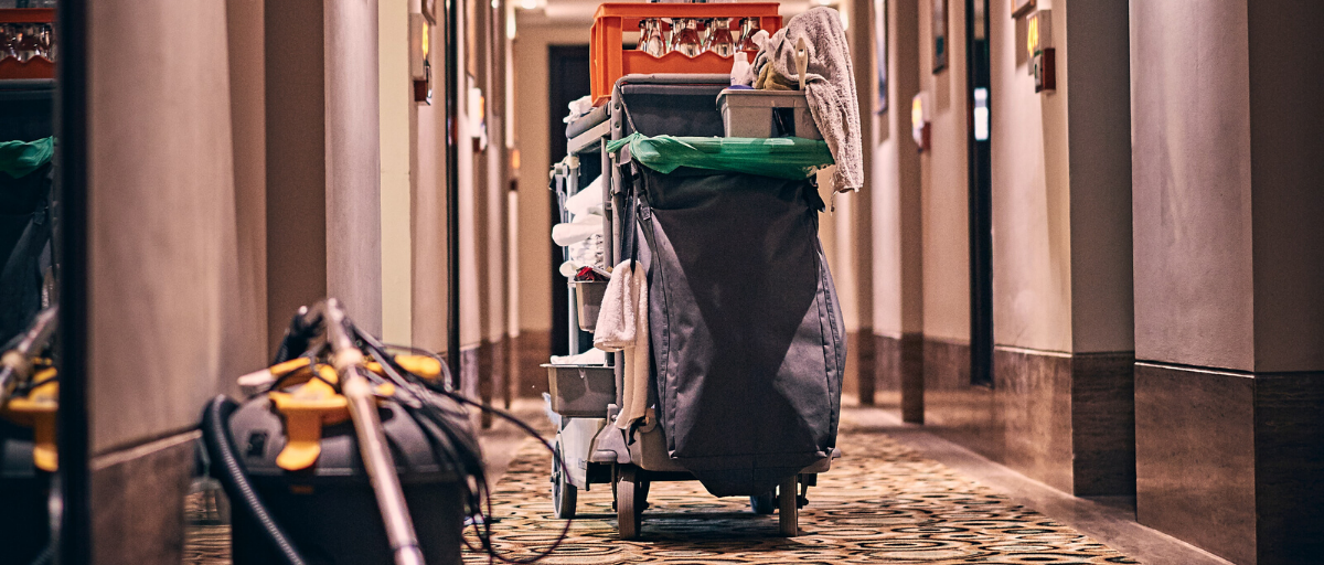 Reopen- hotel cleaning caddy