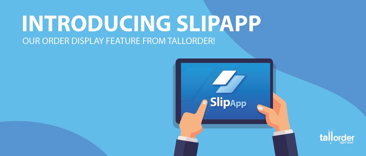 SlipApp screens